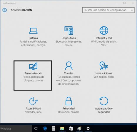 barra tareas windows 10
