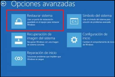 disco de reparación del sistema windows 8