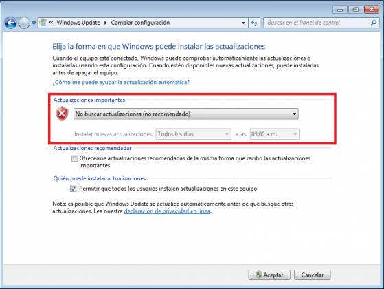 no funciona windows update en windows 7