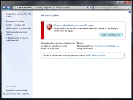 deshabilitar descarga de windows 10