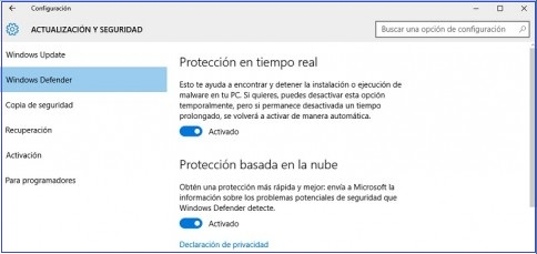 como desactivar windows defender windows 10