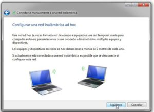 Cómo compartir internet entre equipos inalambricos mediante una red ad hoc en Windows 7