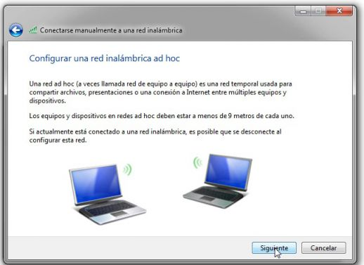compartir internet por red ad hoc windows 7