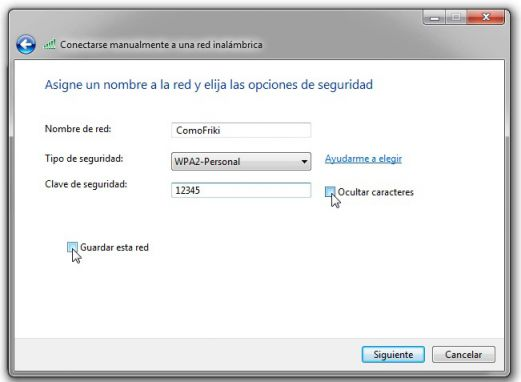configuracion red inalambrica ad hoc windows 7
