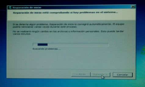 reparar arranque windows 10