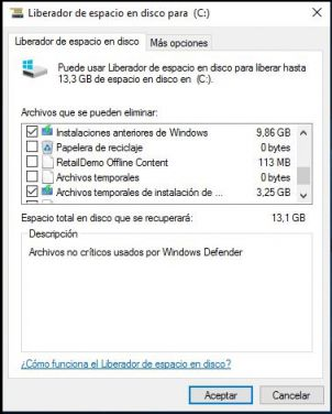 eliminar la carpeta windows.old