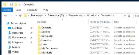 como eliminar windows old
