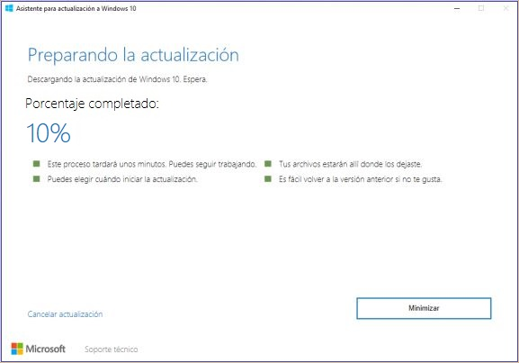 windows 10 creators update español