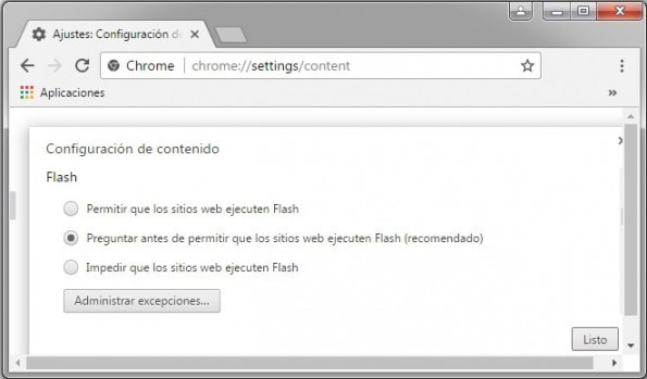 ejecutar adobe flash player automaticamente