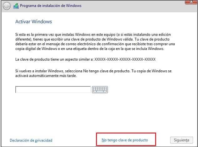 instalar windows 10 sin serial