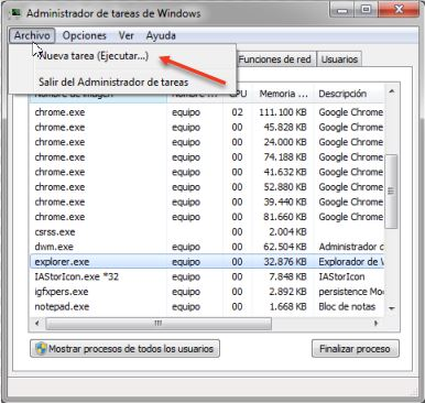 iniciar explorador de windows