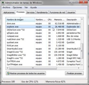 Cómo reiniciar el explorador de Windows (Explorer.exe)
