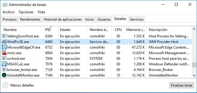 wmi provider host windows 10 que es